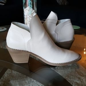 Light Tan taupe round toe ankle booties